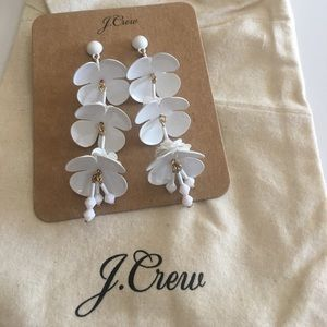 New J.crew white earings
